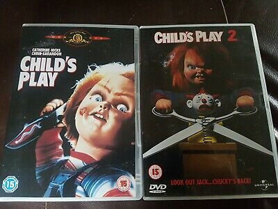 Child's Play  And Child's Play 2 Region 2 DVD S • 9.49£