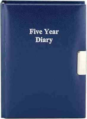 Five Year Undated Lockable Diary Metal Side Lock Assorted • 10.99£