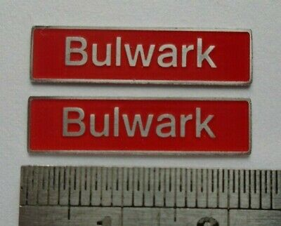 AU17.83 • Buy 50041 Bulwark. O Gauge Etched 7mm Scale Plates. Self Adhesive. Red B/g
