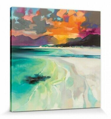 SCOTT NAISMITH Canvas Wall Art - Ready Framed - Seilebost 60 X 60 X 4 Cm • 29£