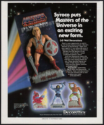 $45 • Buy MASTERS OF THE UNIVERSE__Orig. 1985 Trade Print AD__Decorettes Promo Ad__3D Wall