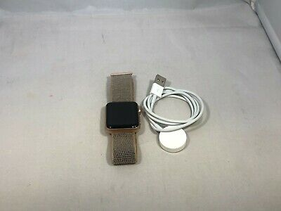 $ CDN322.36 • Buy Apple Watch Series 3 Cellular Gold Sport Good Cond 42mm W/ Pink Band