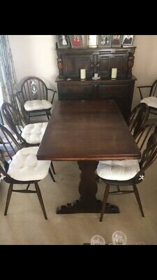 Ercol Old Colonial Extending Table And Chairs • 0.99£