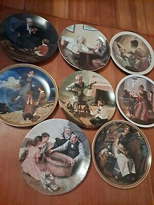 $ CDN21.99 • Buy Norman Rockwell Collector Plates Knowles Lot Of Eight Vintage  Collectable Nice