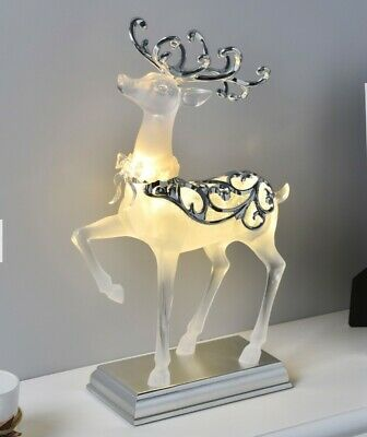 £37.99 • Buy Light Up Reindeer Christmas Luxury Decoration Moving LED Standing Grazing 35cm