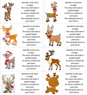 £1.99 • Buy 40 X Christmas Reindeer Food Labels/stickers/present/sweets/gift Bags