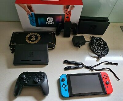AU310 • Buy Nintendo Switch Neon Blue/Neon Red Console + Accessories- Good Condition