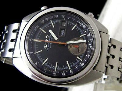 $ CDN745.06 • Buy Seiko Chronograph 6139-6012 Vintage 1970s Automatic Day Date SS Men's Watch