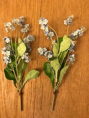 Artificial Forget Me Not 2 Bundles - Each With 2 Stems - Blue Flowers 30 Cm • 7.99£