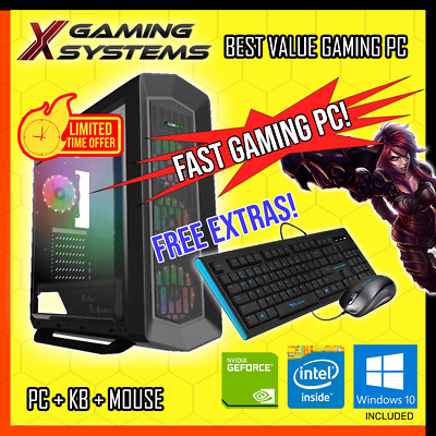 AU729.99 • Buy AMAZING Intel | SSD | NVIDIA | I7 QUAD CORE Gaming PC Computer Office Desktop