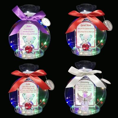 £8.85 • Buy LED Light Teddy Gift For Him Her Some One Special Mum Sister With Poem Ornament