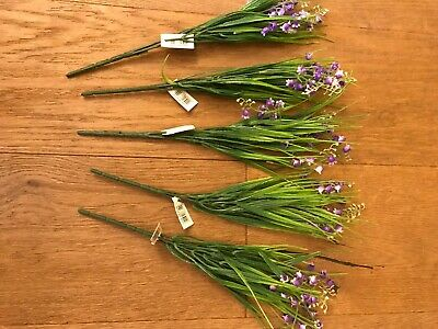Pack Of 5 Artificial Bluebells - Purple Flowers - Spring Decorative Plants 30 Cm • 6.99£