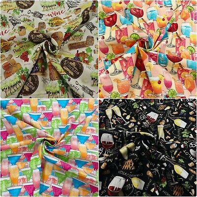 £3.65 • Buy Nutex Vines & Wine Vineyard Drinks Alcohol100% Cotton Patchwork Craft Fabric