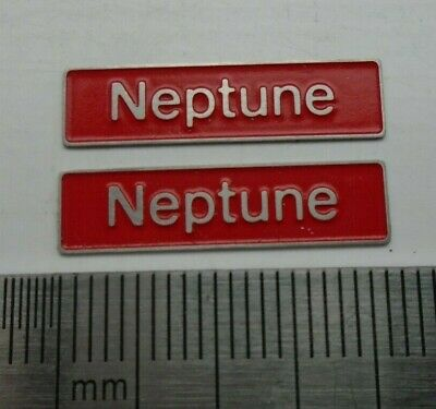 AU17.83 • Buy 50006 Neptune. O Gauge Etched 7mm Scale Nameplates. Self Adhesive. Red B/g
