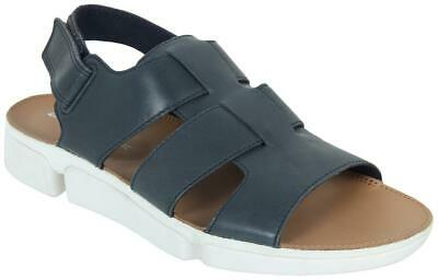 Men's Clarks TRI COVE SKY Navy Leather Gladiator Sandals Shoes, TRIGENIC System • 35.90£