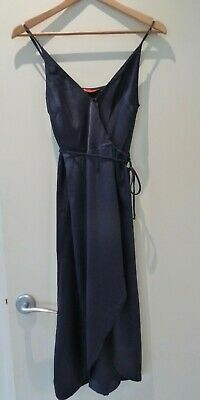 AU25 • Buy Tigerlily Navy Wrap Tie Dress, Size 8, Excellent Used Condition