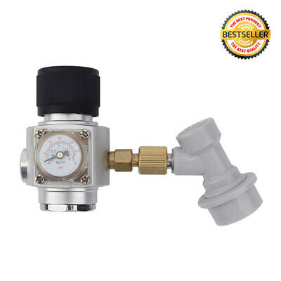 Mini Corny Keg Regulator Gas CO2 Charger Kit 0-30 PSI Disconnect Home Brew Beer • 36.59£