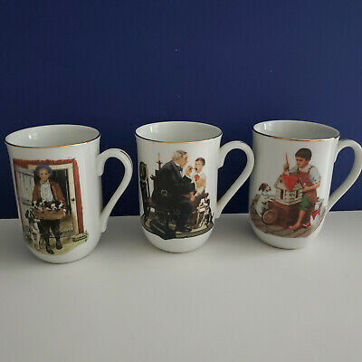 $ CDN48.12 • Buy VTG 3  NORMAN ROCKWELL MUSEUM COLLECTIONS MUGS Free Shipping