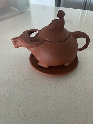 AU125 • Buy Vintage  YIXING  Unglazed Red Clay Pottery Teapot