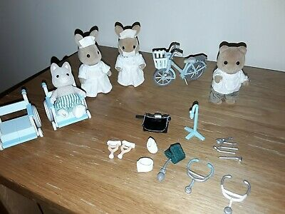 Sylvanian Families..Doctor Murdoch And Nurse Emily & 2 Others With Accessories  • 35£