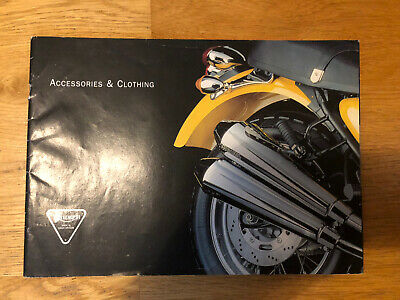 Genuine TRIUMPH ACCESSORIES & CLOTHING Motorcycle Range Sales Brochure (123) • 7£