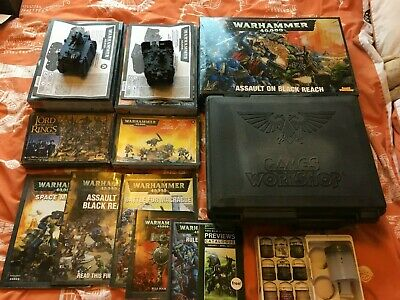 Warhammer Figures/Vehicles/Books/Paints & Hard Case  - Complete Collection Sale. • 135£