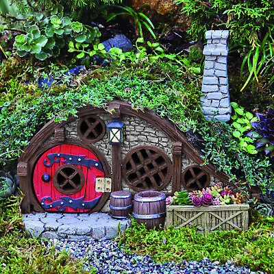 Fairy Garden Houses: Burrows And Hobbit Style Houses Fiddlehead Opening Doors • 22.50£