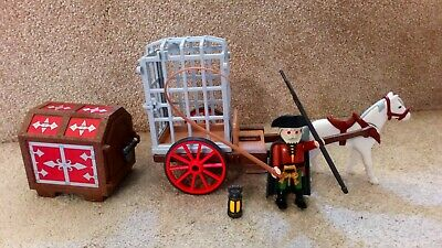 Playmobil 6376 Medieval Knights Horse And Carriage Jail Cell Complete • 11.99£