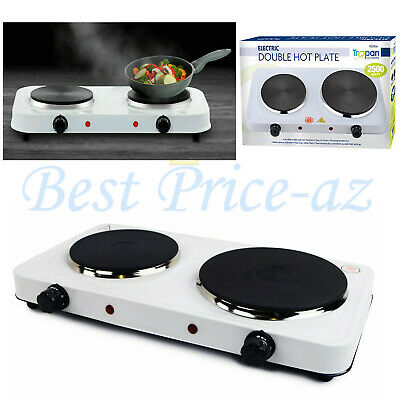 £21.99 • Buy New 2.5KW Portable Electric Double Twin Hot Plate Table Top Kitchen Cooker Stove