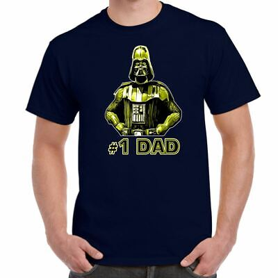Mens Funny Printed T Shirts-Darth Vader No 1 DAD Star Wars Inspired-Funny Gifts • 7.99£