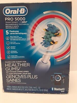 AU107.49 • Buy Oral-B 5000 SmartSeries Electric Toothbrush Rechargeable White Powered By Braun