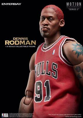 $2668 • Buy Enterbay NBA Bulls Dennis Rodman Motion Masterpiece 1/9 Scale Collectible Figure