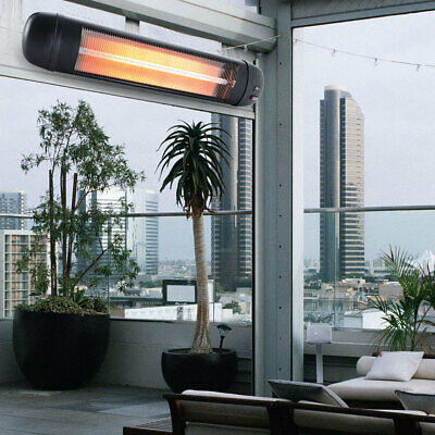 2kw Infrared Outdoor Patio Heater Electric Garden Mounted Remote & Wall Fittings • 149.95£