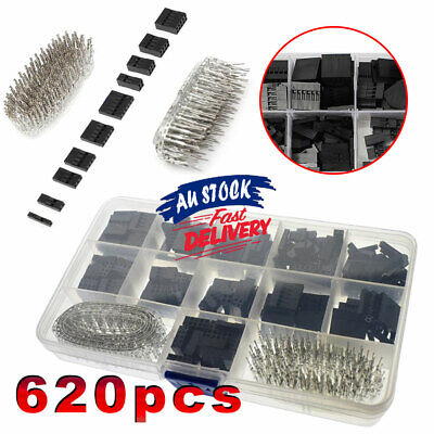 AU13.79 • Buy 620x Connector Crimp Pin Male Housing Kit Female Dupont Wire Jumper Pin Header