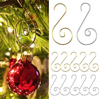 20PCS Steel Christmas Tree Ornament Hooks S Shaped Baubles Ball Xmas Party Decor • 2.65£