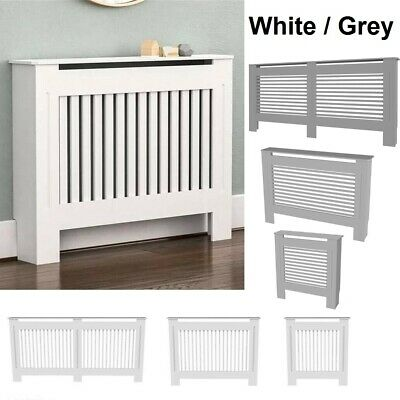 £30.95 • Buy White Radiator Cover Grill Shelf Cabinet MDF Wood Modern Traditional Furniture