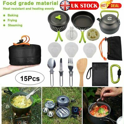 £23.91 • Buy Cook Set Portable Camping Cookware Kit Outdoor Picnic Hiking Cooking Equipment