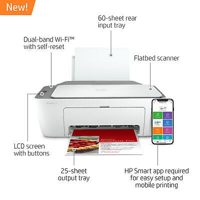 View Details  New HP DeskJet 2722 All In One Wireless Color Inkjet Printer Instant Ink Ready • 64.99$