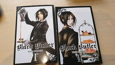 BLACK BUTLER BY YANA TOBOSO VOLUMES ONE And TWO • 5£