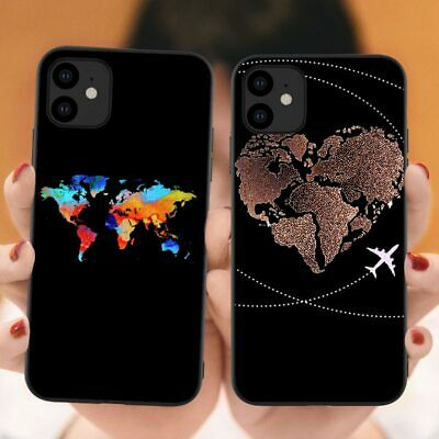 World Map Travel Just Go Soft Phone Cases For IPhones 11 Pro Max 2019 Plane • 5.85£