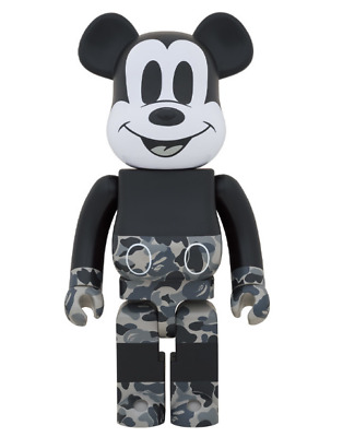 $1239.80 • Buy MEDICOM TOY BE@RBRICK Mickey Mouse Monotone Ver. 1000% VCD BAPE From Japan New