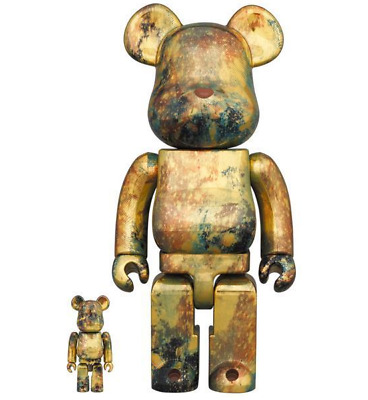 $416.67 • Buy MEDICOM TOY Bearbrick Series Pushead #5 Gold 100% & 400% Collection JAPAN F/S