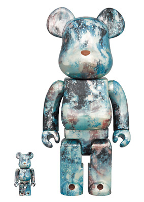 $438.70 • Buy MEDICOM TOY Bearbrick Pushead #5 100% & 400% Water Print Genuine From Japan  F/S