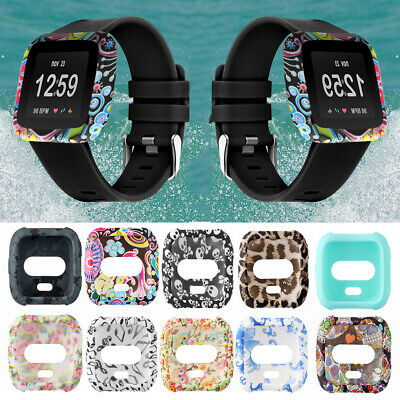 $ CDN3.10 • Buy Band For Fitbit Versa Silicone Case Watch Frame Full Coverage Screen Cover