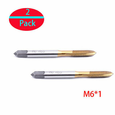 $7.96 • Buy 2x Metric Right Hand Machine Tap 6mm M6x1mm HSS Spiral Point Straight Flute