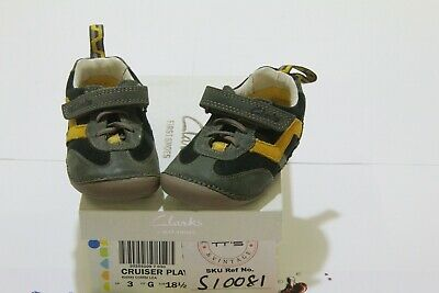 Clarks First Steps 'cruiser Play' Baby Shoes Size 3 G Uk 18.5 Eu • 15£