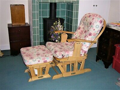 Nursery Rocking Chair With Rocking Stool • 115£