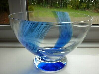 £34.99 • Buy Vintage Caithness Crystal Bowl With Spatter Swirl