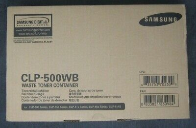 £12.95 • Buy Samsung CLP-500WB Waste Toner Container BNIB  - Free 2nd Class Royal Mail
