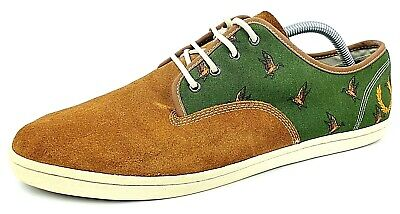 Fred Perry Suede Shoes Mens Drakes Design Boating Irregular UK 10 EU 45 US 11 • 36.97£